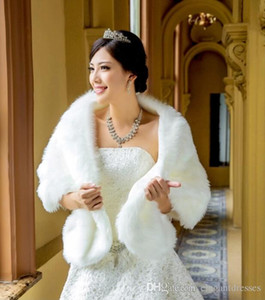 2017 Hot Sale Winter Cheap 2016 New Design White Wedding Wrap The Beautiful Wrap Wedding Bridal Special Occasion Shawl