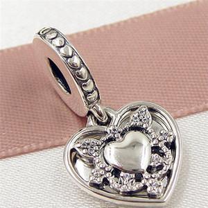 Fête des mères 2017 en argent sterling 925 Ma femme toujours balancer des perles de charme avec Cz clair pour bracelets de bijoux Pandora européens