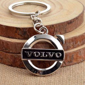 Comercio al por mayor 3D Metal Car Logo Emblem Llavero Ring Holder clave para VOLVO V40 V60 S60 LXC60 XC90 Fans de Regalo