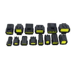 7 conjuntos contêm (2 + 3 + 4 + 6 + 8 + 10P + 12p) para denso 1.8 conector macho e fêmea plug, conectores à prova d 'água automotivo conector xenon