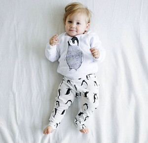 Baby Boys girls clothes Casual Clothing Sets Cotton Long Sleeve T-shirt+Pants Infant Clothes 2PCS Suit