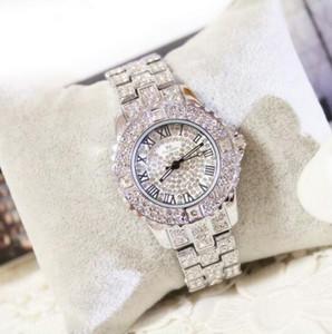 A irmã azul da abelha das BS Stars o número estrelado de numerais romanos do relógio de senhoras do diamante do relógio de aço