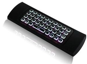 Teclado MX3 Backlight sem fio 2.4G sem fio remoto controle da mosca Air Mouse retroiluminado para Android TV Box PC i8 T3