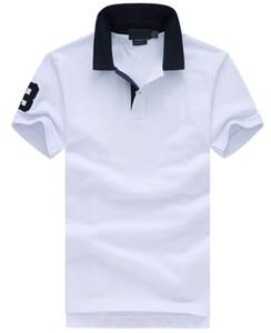 Homens Moda Casual camiseta Ralph Cotton Polo camisetas Cavalo grande bordado manga curta Verão Lazer Sports Polos Primavera Sólidos T-shirt