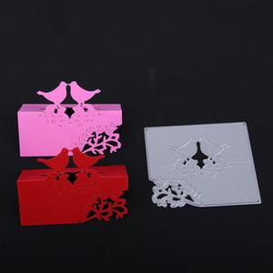 93 * 82mm 3D uccelli Rami Su Misura In Metallo Metallo Fustellatura Muore Scrapbooking Goffratura Taglio Stencil FAI DA TE Carte Decorative q171128