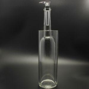Construção de todos os vidros Bongos de gravidade gravitron Vem com taça de vidro Slide Tubo de água de vidro de 13 polegadas Nenhum fumo é perdido