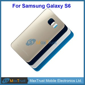 Top Quality For Samsung Galaxy S6 G920 G9200 G920F Battery Cover Rear Back Housing Door With Adhesive 4 Color
