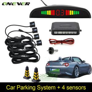 자동차 자동 주차 LED 주차 센서 4 센서 역방향 백업 자동차 주차 레이더 모니터 탐지기 시스템 백라이트 디스플레이