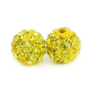 New Arrival Colorful Polymer Clay Pave Shamballa Disco Ball Beads for Jewelry Making 100 pcs bag