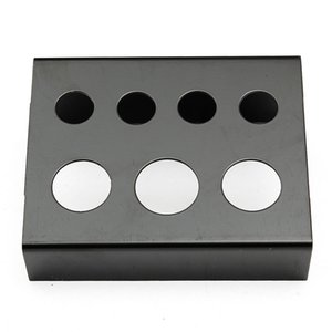 Wholesale-7 Cap Holes Tattoo Ink Cup Holder Stand Professional Stainless Steel Pigment Cups Bracket Black Red Tattoos Tools