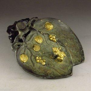Toptan ucuz Çin Bronz küllük Heykeli - Kurbağa fd011