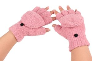 Vente en gros - Nouveaux gants d'hiver sans doigts en hiver Mitaines chaudes 1 paire 6 couleurs