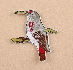 NEW Iron On Patches DIY Embroidered Patch sticker For Clothing clothes Fabric Badges Sewing vivd birds design