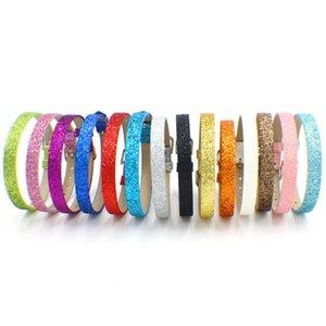 20pcs del destello de cuero pulsera de Cartas Fit 8 mm de diapositivas / encantos de accesorios de bricolaje