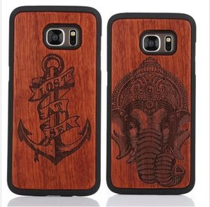Niedriger Preis Kreative Holzschnitzerei Fall Für Samsung Galaxy S5 S6 S7 rand S8 Plus Phone Cover Fällen Schlank Holz Telefon Fall Für Iphone 6 6 s plus 7