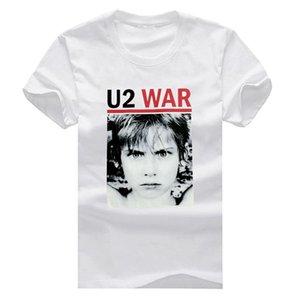 T-shirts à manches courtes T-shirt à manches courtes en coton U2 War New Fashion Men Man Livraison gratuite