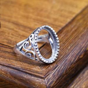 13x18MM ovale Cabochon supporto semi anello di fidanzamento filigrana d'argento 925 stile Liberty Belle Silver Ring Setting
