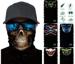 Karışık tasarım Kafatası Bandana Bisiklet Motosiklet Kaskı Boyun Yüz Maskesi Motosiklet Biker bisiklet Balaclava maskeleri Maske