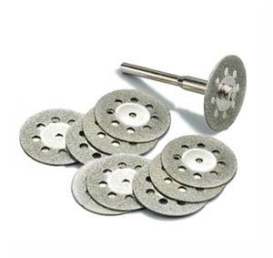 10Pcs / set 22mm 다이아몬드 커팅 디스크 커팅 스톤 커팅 디스크 연마재 커팅 Dremel 로타리 도구 액세서리