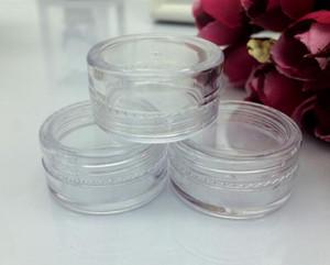 Recipiente de plástico Tarros de olla 5 gramos de crema cosmética Sombra de ojos Polvos en polvo Joyería 0.17oz Claro Vacío