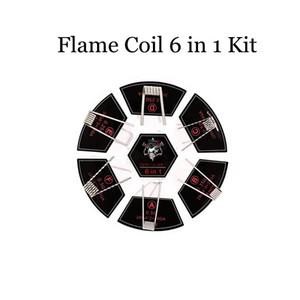 100 % 정통 악마 킬러 화염 코일 (6) 1 키트 코일 미리 만들어진 코일 316L 재질의 6 종류 미리 만들어진 난방 미리 만들어진 와이어 Vape