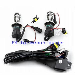 12v 35W H4 bi-xenón Hid xenón bombillas 6000k HID Lámparas para faros delanteros con mazo de cables