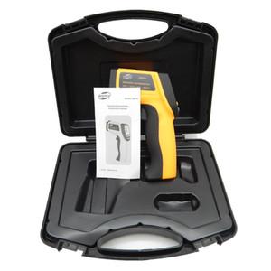 Freeshipping (con scatola) Termometro a infrarossi digitale IR non contatto Termometro a infrarossi a punta laser -58 ~ 750c