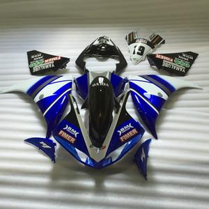 Spritzguss-Kunststoffverkleidungssatz für Yamaha YZF R1 09 10 11-14 blau-weiße Verkleidungssätze YZF R1 2009-2014 OY25