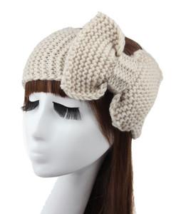 Novo Algodão Crochet Arco Headband Turbante Ear Warmer Inverno Mulheres Turbante Cabeça Envoltório Acessórios Para o Cabelo 15 Cores