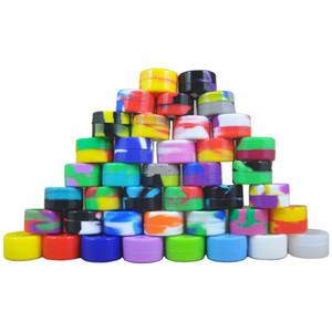 Al por mayor de 5 ml antiadherente de silicona Jar Caso 6 Dab Cera recipientes para cera de silicona tarros Concentrado en 1 Dabs de silicona Contenedores