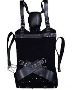 2018 New Leather Sex Love Swing Black Fetish Heavy Adult Swing Sling Restraints D Rings Sex Swing Chair Sex Furnitures Couple BDSM Toys