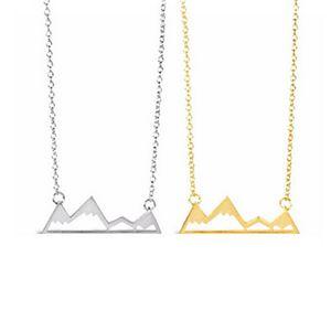 Nuovi pendenti all'ingrosso Collane pendenti Dainty Snowy Mountain Top collane per le donne Collana di montagna regalo delle donne EFN037-F