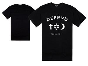 plus size DEFEND COEXIST t-shirt moda skateboard tees hip hop top prezzo migliore skate t shirt camicetta maschile camisetas masculinas