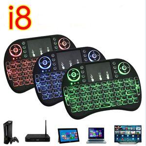 Мини-Rii I8 Fly Air Mouse беспроводная сенсорная панель портативная клавиатура мультимедийный пульт дистанционного управления с подсветкой подсветкой подсветкой для ПК google tv
