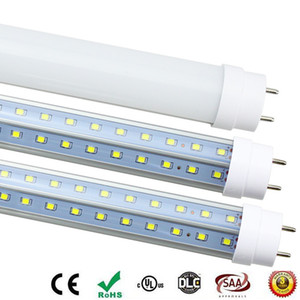Soğutucu kapısı için G13 döner Aydınlatabiliriz T8 LED Tüp 4 ft 5 ft 6 ft 8 ft V-şekli Çift taraf floresan ışığı AC85-265V UL LED