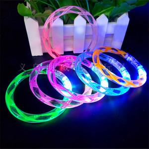 Screw Acrylic flash LED light emitting electronic bracelet children luminous baby shower toys party birthday favor gifts LZ0486