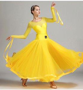 Bow Belt Büyük Şeffaf Hem 6 Renkler ile Balo Vals Parti Elbise SATIŞ Kadınlar Rekabet Elbise Dans Kostümleri D0650 Tango