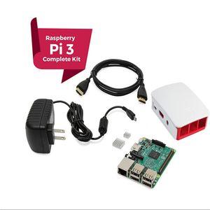 Бесплатная доставка Raspberry Pi 3 Полный стартовый комплект, черный, Raspberry Pi3 модель B Barebones компьютерная материнская плата 64-битный четырехъядерный процессор 1 ГБ RA