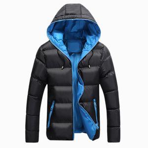 Wholesale- neuen Männer Winter-beiläufige mit Kapuze dicke Jacke Fashion unten Cotton Mäntel Men Thermal Parkas warm Hoodies Kleidung LA082