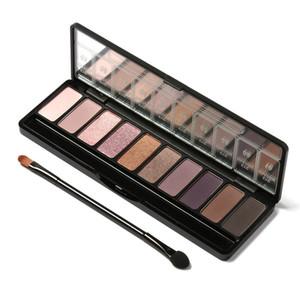 Косметический макияж Nude глаза 10 цветов Eyeshadow Pallete Косметика Shimmer Matte Eyeshadow Earth Color Eyeshadow Palette