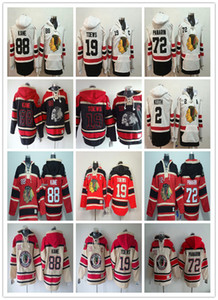 Homens 2019 Chicago Blackhawks Winter Clássico Hoodies 88 Patrick Kane 19 Jonathan Toovs 2 Duncan Keith Panarin Old Time Camisolas Camisolas