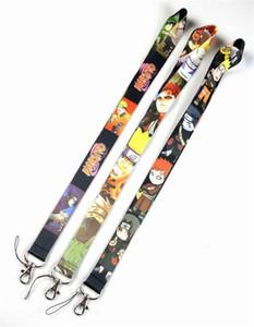50pcs Mix Anime Style NARUTO Cartoon Key Lanyards ID Badge Holder Keychain Straps for Mobile Phone Free Shipping