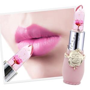 2018 Nouveau vrai 0056 Jelly Couleur Rouge à lèvres Visage Maquillage Changement de température Pétale Fleur Rouge à lèvres Maquillage Moisture hydratant Lip Gloss Matte