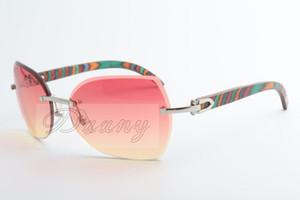 L'alta qualità legno nuovo pavone naturale, elegante, lenti smussati, gli occhiali da sole, 8300818 Dimensioni: 60-18-135 mm