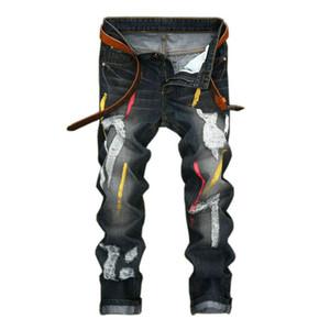 Moda para hombre Jeans Hole Vintage Straight Slim Ropa de hombre Primavera Verano pantalones de mezclilla 2017 Venta caliente Jeans adolescentes Streetwear 38 40 42