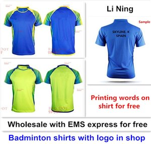 Wholesale EMS for free, Text printing for free, new badminton shirt clothes table tennis T sport shirt clothes 1053