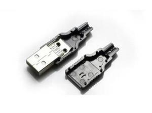 Bilgisayar Kabloları Konnektörler Siyah Plastik Kapaklı IMC Tip A Erkek USB 4 Pinli Priz Konnektörü