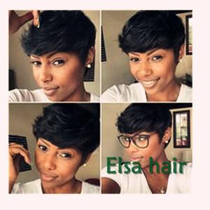 Celebrity Hairstyles Pixie cut human short hair wig Brazilian human bob hair wigs pixie cut short human hair full wig for black women