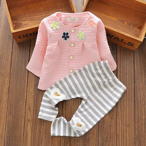Wholesale- New 2016 Autumn Winter Newborn baby girl clothes toddler christmas girl clothing set vetement clothing girl fille baby set