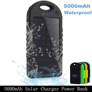 태양 전원 은행 배터리 방수 듀얼 Usb 충전기 전화 캠핑 램프 액세서리 울트라 얇은 스냅 후크 첨부 배낭 하이킹 손잡이 고무